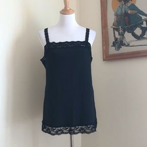 St. John's Bay black sequin and lace cami